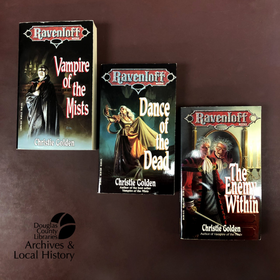 Image shows three books from the Ravenloft series.