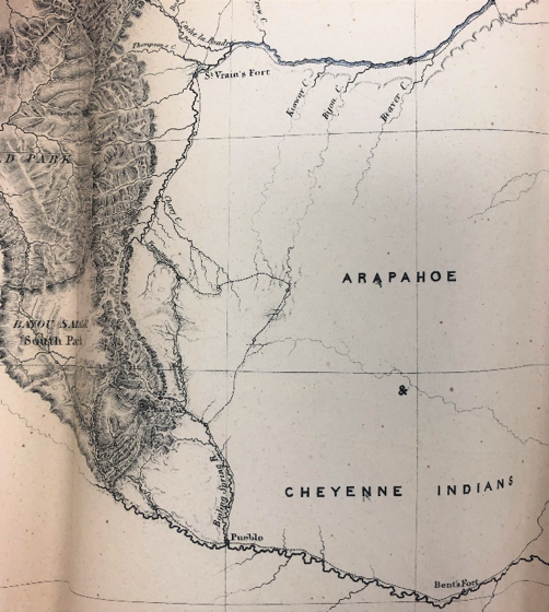 Figure 1: Preuss map, detail view of Pikes Peak region
